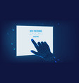 touch abstract tablet polygonal hand man vector image