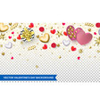 valentines day background design hearts vector image vector image