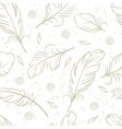 vintage seamless pattern with hand drawn feathers vector image