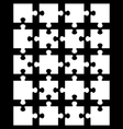 white puzzle 12 vector image vector image