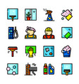 window cleaning services icons vector image
