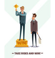 winners cup business background vector image