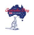 happy australia day 26 vector image