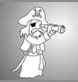 businessman in pirate uniform vector image