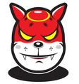 cute red fire element cartoon monster vector image
