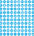100 auto icons vector image vector image