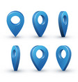 3d map pointer set vector image vector image