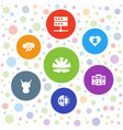 7 hard icons vector image vector image