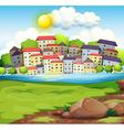 A village near the river vector image vector image
