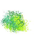 abstract liquid green drip splatter silhouette vector image