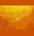 abstract polygonal orange background with vector image vector image