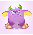 angry cartoon goblin monster vector image vector image
