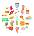 baking from cook icons set cartoon style vector image vector image