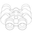 Binoculars line- vector image vector image