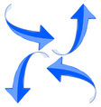 blue arrow vector image