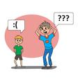 boys talk vector image vector image