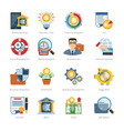 Business And Finance Flat Icons vector image vector image