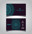business card with elegant mandala design vector image vector image