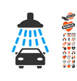 car shower icon with dating bonus vector image vector image