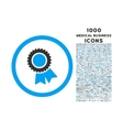 Certification Rounded Icon with 1000 Bonus Icons vector image vector image