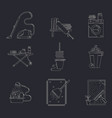 cleaning service line icon set vector image