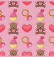 collection of valentines day elements vector image