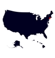 Connecticut State in the United States map vector image vector image