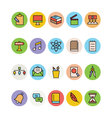 Education Colored Icons 10 vector image