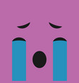 emoticon smile with crying face vector image