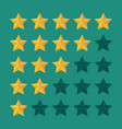 five star rating icon vector image