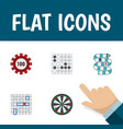 flat icon play set of sea fight poker vector image vector image