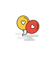 flat love balloons icon vector image vector image