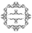 Frame and border with lace elements vector image