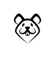 funny rat muzzle icon front view linear vector image