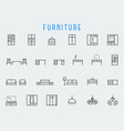 furniture reelated icon set in line style vector image