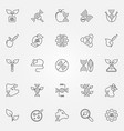 gmo outline icons set - genetic engineering vector image vector image