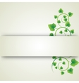 green leaves curls vector image vector image