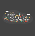 happy birthday black card inscription important vector image