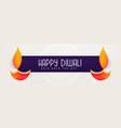 happy diwali banner design for festival season vector image