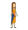 hippie woman avatar character vector image vector image