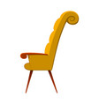 image of elegant armchair of vector image vector image