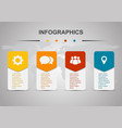 infographic design template with rounded vector image vector image