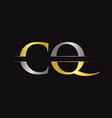 initial cq letter logo with creative modern vector image vector image