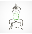 Lotus pose on fitball vector image