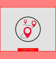 map icons marker pointer pin location icon gps vector image vector image