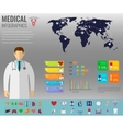 Medical Infographic set with charts and other vector image vector image