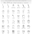 Office Stationery ultra modern outline line vector image vector image