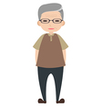 Old man character vector image