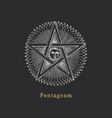 pentagram with sun and crescent vector image