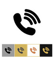 phone icon telephon talking symbol on gold and vector image vector image